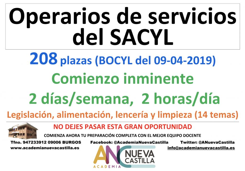 OPERARIOS DE SERVICIOS DEL SACYL